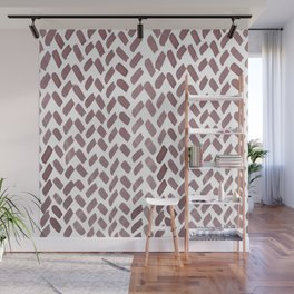 Cute watercolor knitting pattern - sand Wall Mural