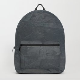Slate Gray Stucco - Faux Finishes - Rustic Glam - Venetian Plaster Backpack