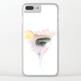 Eye and tear Clear iPhone Case