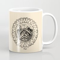 astronomy Mugs featuring Astronomy Pug by beart24