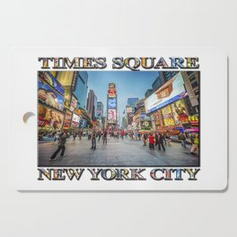 Times Square Sparkle (with typography) Cutting Board