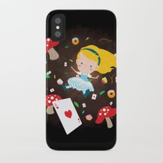 Alice Falling Down the Rabbit Hole iPhone X Slim Case