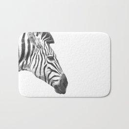 Black and White Zebra Profile Bath Mat