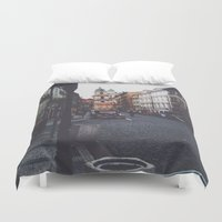 prague Duvet Covers featuring PRAGUE by REASONandRHYME