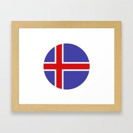 Icelandic flag Framed Art Print