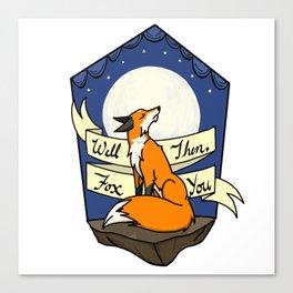 Sassy Fox Canvas Print