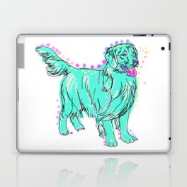 The happy GOLDEN RETRIEVER Love of My Life - your Golden dog keeps you smiling! Laptop & iPad Skin