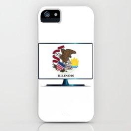 Illinois Flag TV iPhone Case