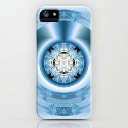 Art Deco Hub Cap in Blue iPhone Case