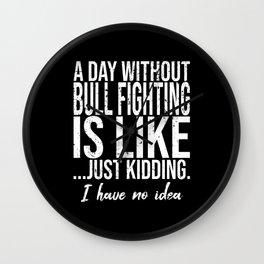 Bull Fighting funny sports gift Wall Clock