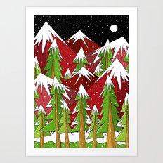 Xmas Mounts Art Print