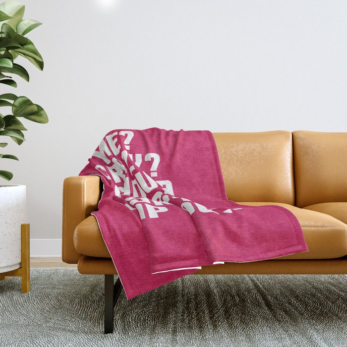 Down Off This Unicorn Funny Quote Throw Blanket