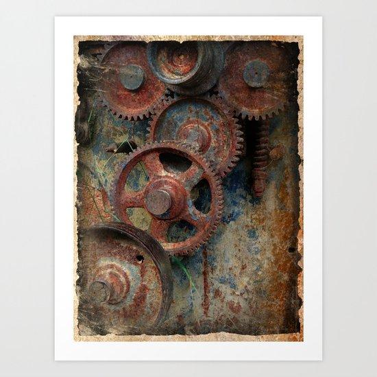 Gear mechanism Art Print