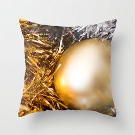 Golden Cheer V Throw Pillow