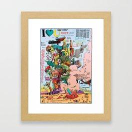 Poster for Taoists Framed Art Print