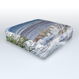 Waves Rolling up the Beach Outdoor Floor Cushion