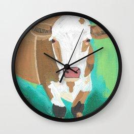A Heifer Named Cross Wall Clock
