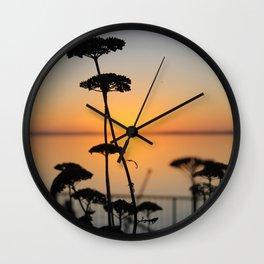 Flower Silhouette, Clear Lake, Iowa Wall Clock