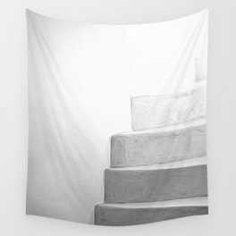 White Stairs Wall Tapestry