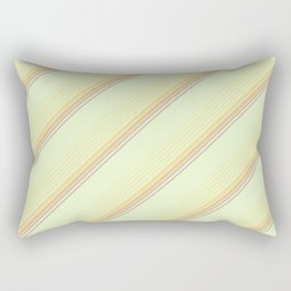 Spring Green Inclined Stripes Rectangular Pillow