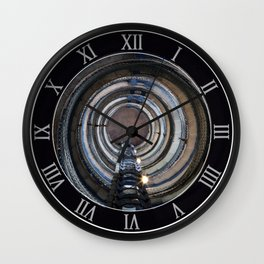 Spiral stairs in an old lighthouse Wall Clock