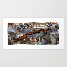 Jurassic Park - When Dinosaurs Ruled the Earth Art Print