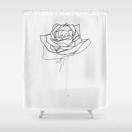 """""""Botanical Collection"""" - Rose Flower Shower Curtain"""
