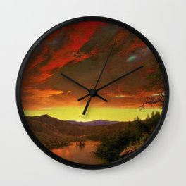 Twilight in the Wilderness by Frederic Edwin Church Wall Clock