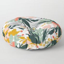 Botanical brush strokes I Floor Pillow