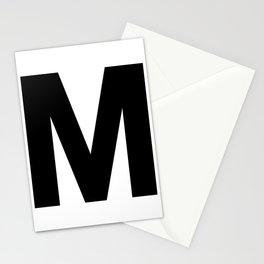 Letter M (Black & White) Stationery Cards