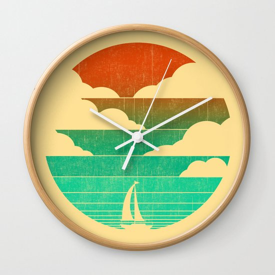 Go West (sail away in my boat) Wall Clock