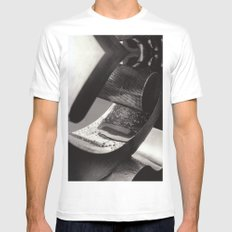 Droplets on Metal White MEDIUM Mens Fitted Tee