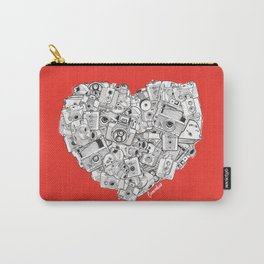 Camera Heart - on red Carry-All Pouch