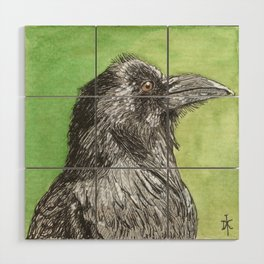 Majestic Raven Wood Wall Art