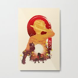 Lufy wano - one piece Metal Print