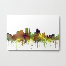 Minneapolis, Minnesota Skyline SG - Safari Buff Metal Print