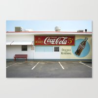 coca cola Canvas Prints featuring Coca Cola by Jon Cain