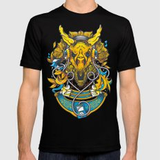 Golden Tricerapod Mens Fitted Tee Black SMALL