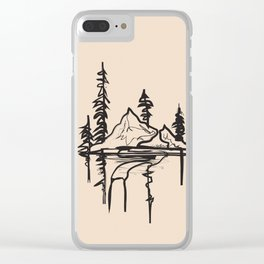 Abstract Landscpe Clear iPhone Case