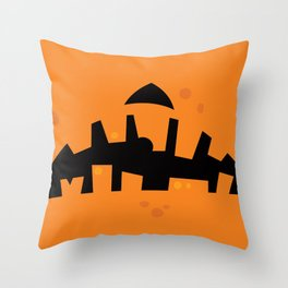 Pumpkin Zombie Mouth Throw Pillow