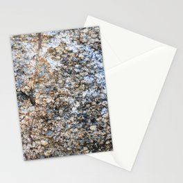 The surface of the granite stone. Stationery Cards
