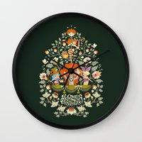wonderland Wall Clocks featuring Wonderland by rosekipik