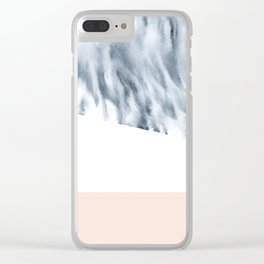 minimal ink Clear iPhone Case