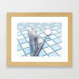 Dental hygiene Framed Art Print
