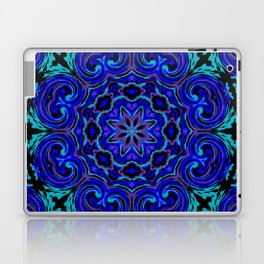 Bright Blue Kaleidoscope Laptop & iPad Skin