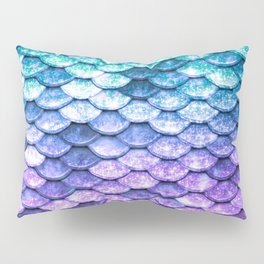Mermaid Ombre Sparkle Teal Blue Purple Pillow Sham