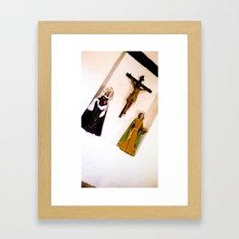 Virgins and Jesus. Framed Art Print