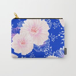 Powder Pink Flowers in a repeat pattern Carry-All Pouch