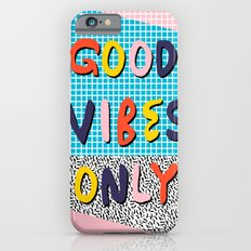 Check it - good vibes happy smiles fun modern memphis throwback art 1980's 80's 80s 1980s 1980 neon  iPhone 6 Slim Case