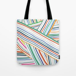 Abstract Line Pattern One Tote Bag